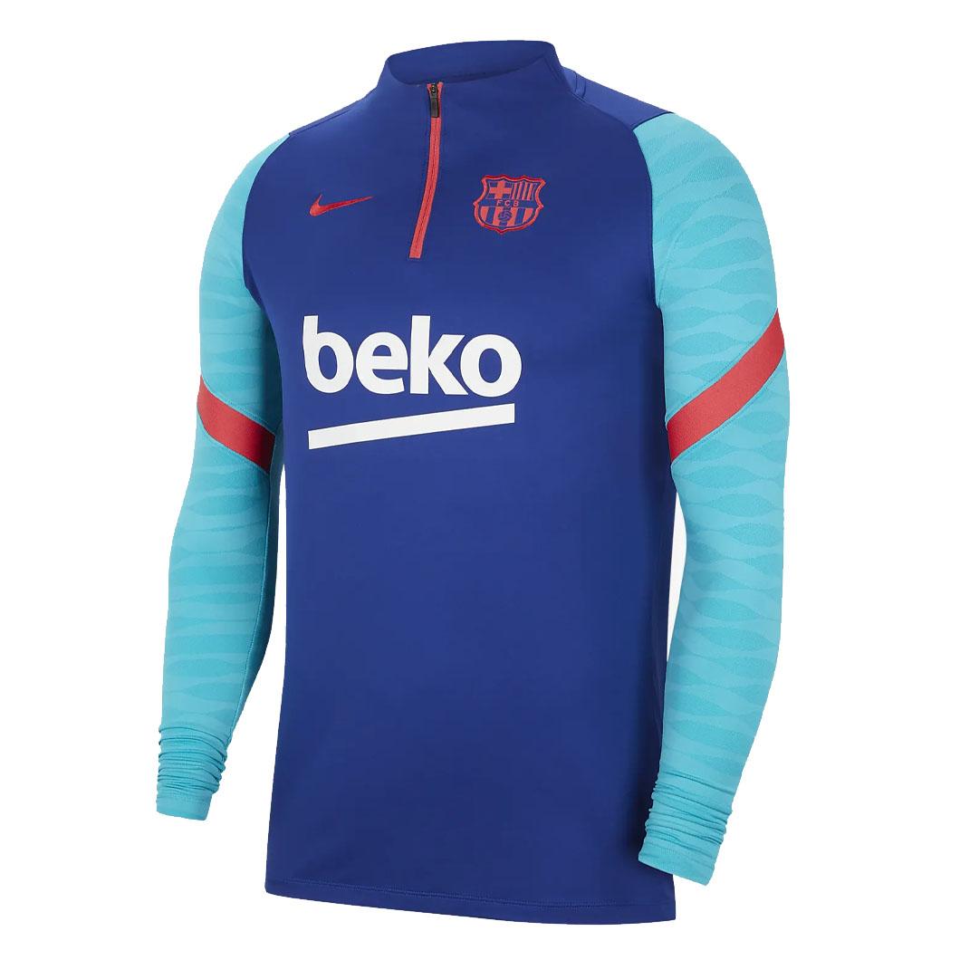 FC Barcelona Drill Top 2020-2021 Deep Royal Blue