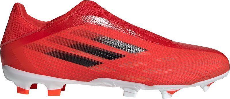 FY3271 adidas X Speedflow.3 Laceless FG Red Black