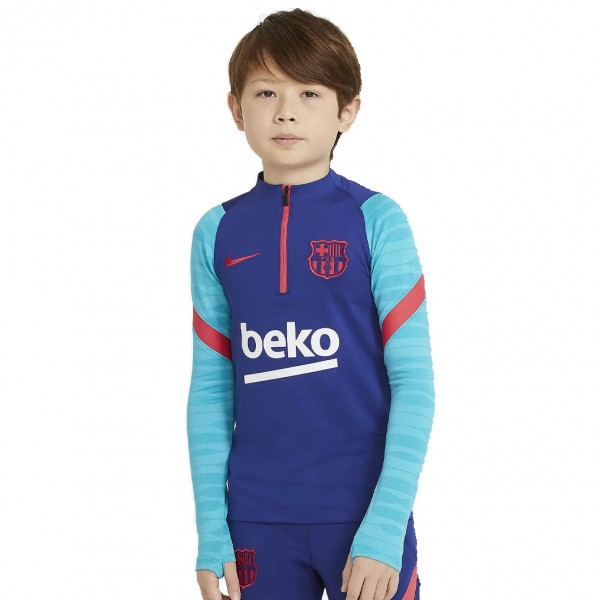 CW1700-456 Nike FC Barcelona Drill Top 2020-2021 Kids Deep Royal