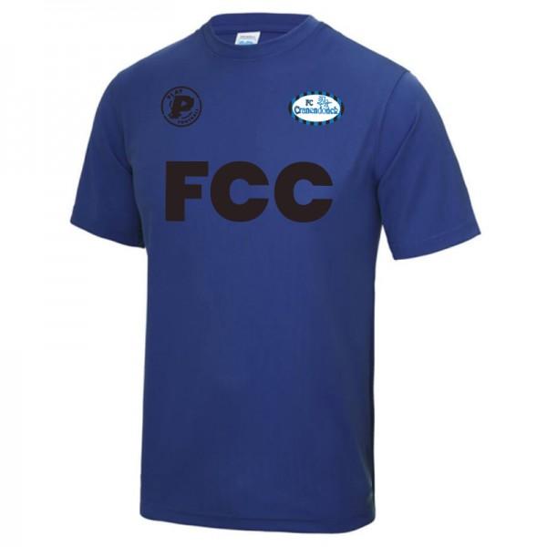 FCC.TEE.KDS-Blauw Play FC Cranendonck Actie Shirt 2020 Kids Blauw