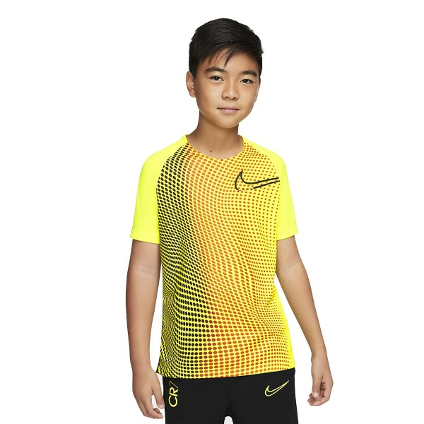 CD1076-100 Nike CR7 Dry T-Shirt Kids Lemon Venom