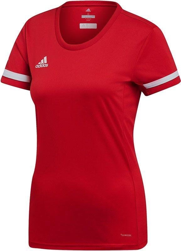 DX7248 adidas T-Shirt T19 SS Jersey Women Power Red